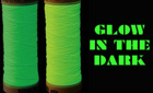 Glow in the dark thread for woven wristbands
