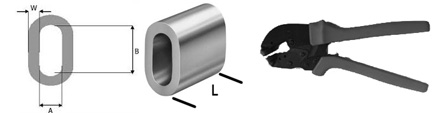 Dimensions and sizes of metal lock