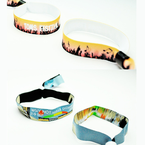 How to choose between woven and printed fabric wristbands?